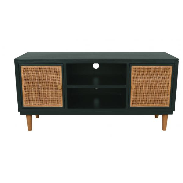 meuble tv cannage vert macae