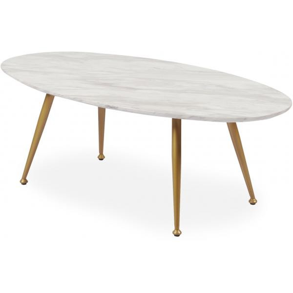 table basse ovale effet marbre dory