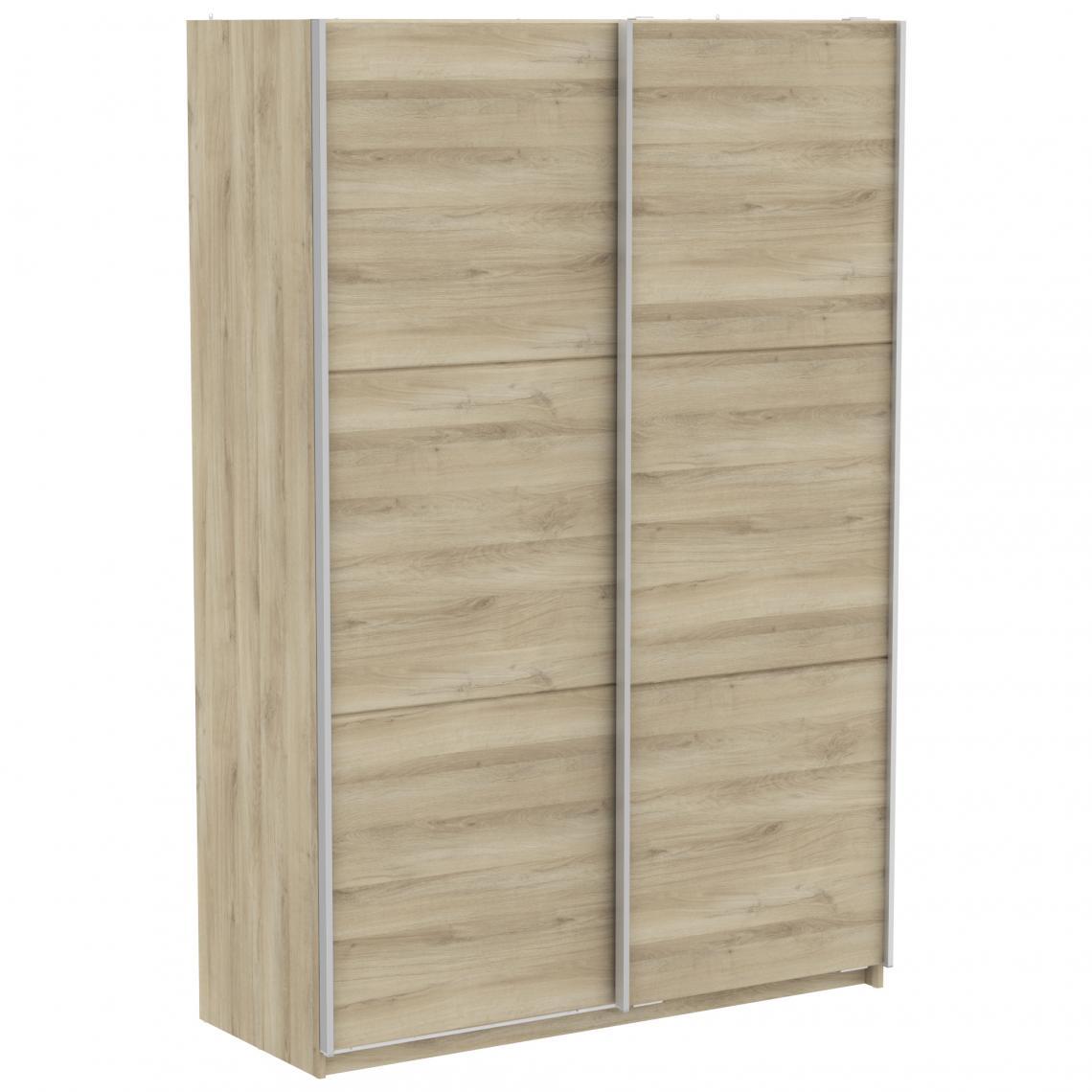 armoire beige avec 2 portes coulissantes 150cm scherer