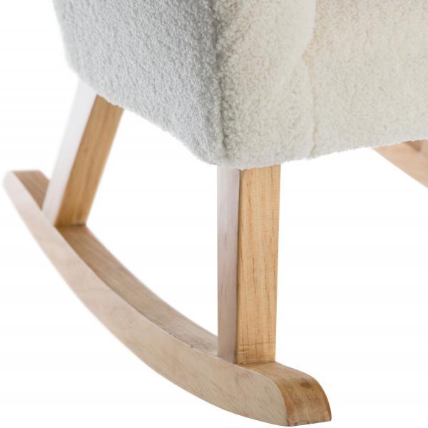 fauteuil a bascule moumoute blanc doudou