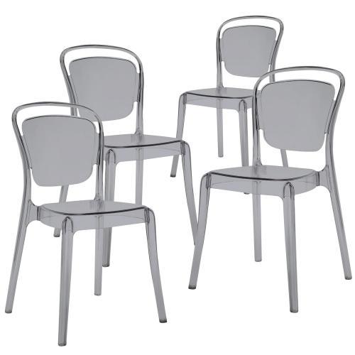 lot de 4 chaises empilables fume yama 3s x home