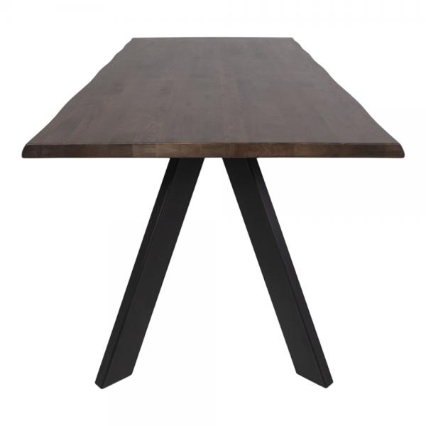 table a manger en chene massif marron fonce restem