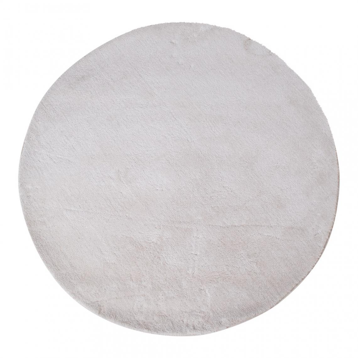 tapis rond blanc 120 cm florida 3 suisses