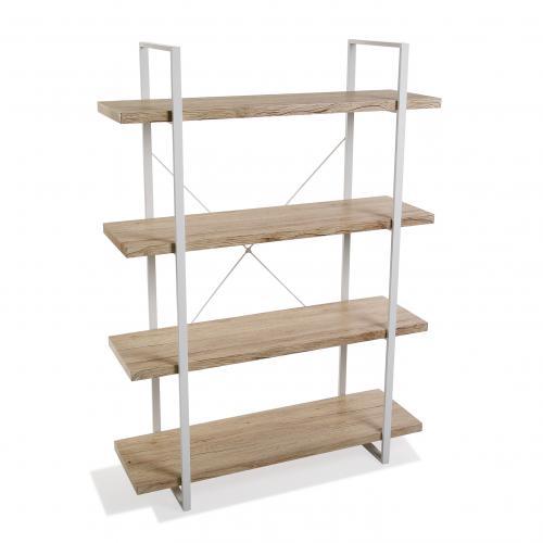 3s x home etagere 4 etages bois clair et structure en metal buinot