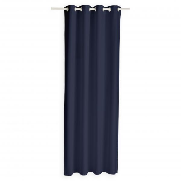 rideau isolant a œillets bleu
