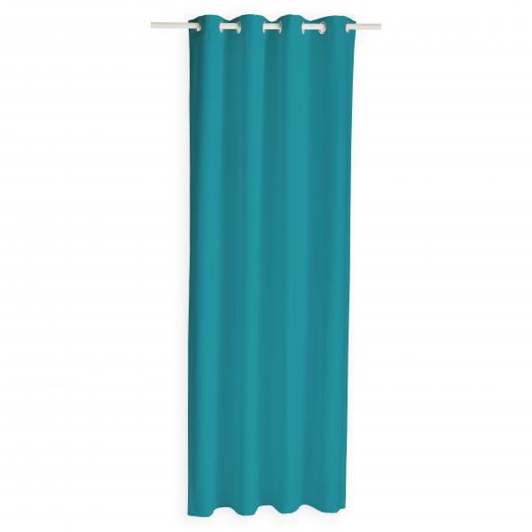 rideau isolant a œillets turquoise