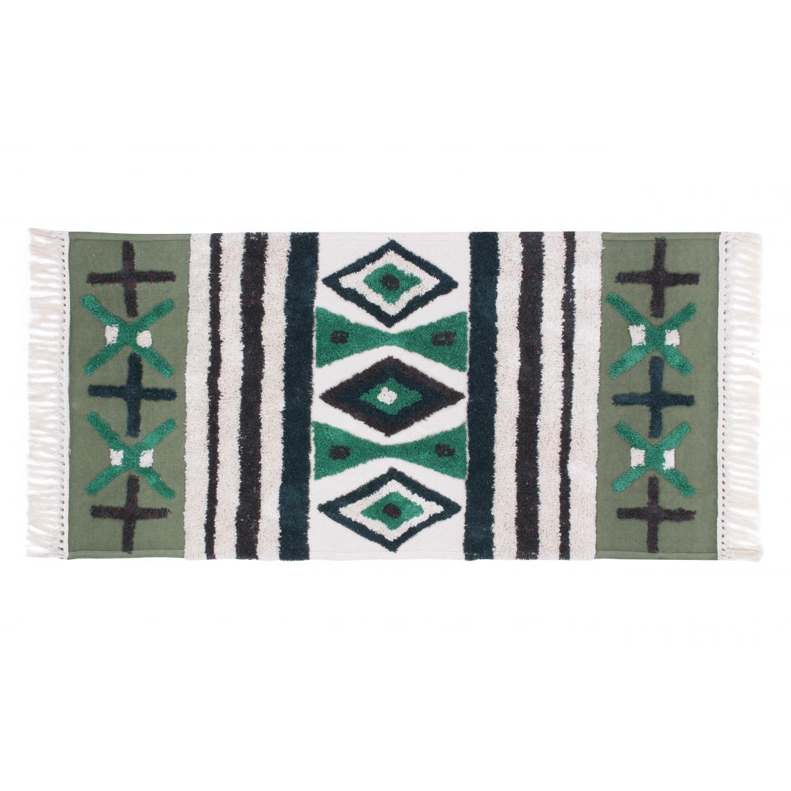 tapis vert en coton 160x230 burdy