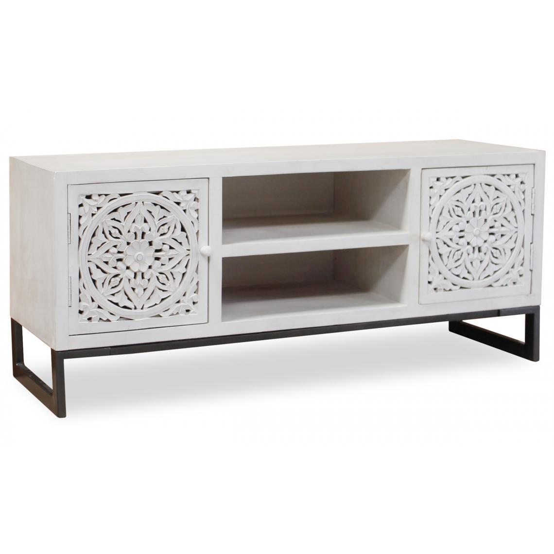 meuble tv blanc nakita 3 suisses