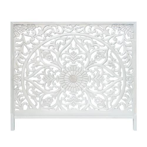 tete de lit 160cm bois blanc mandaly 3s x home