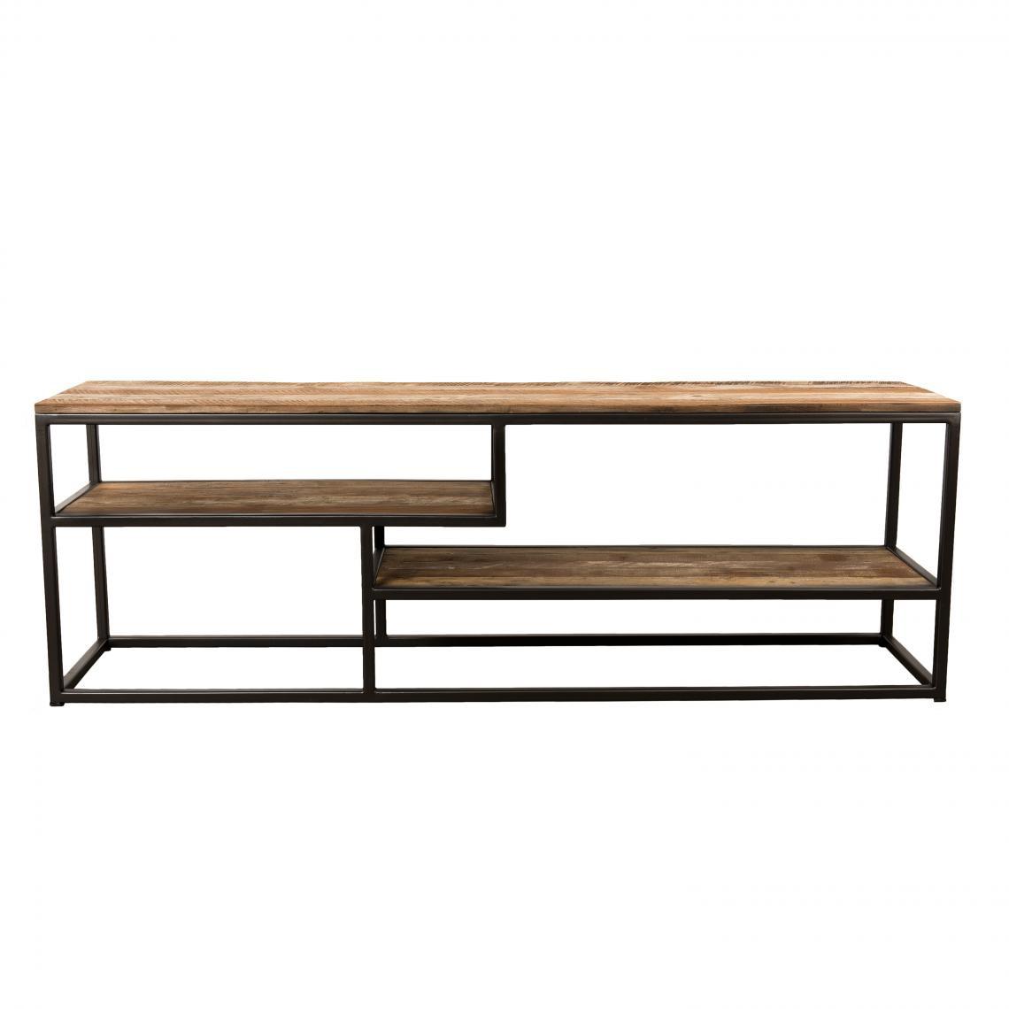 meuble tv 3 niveaux bois de teck