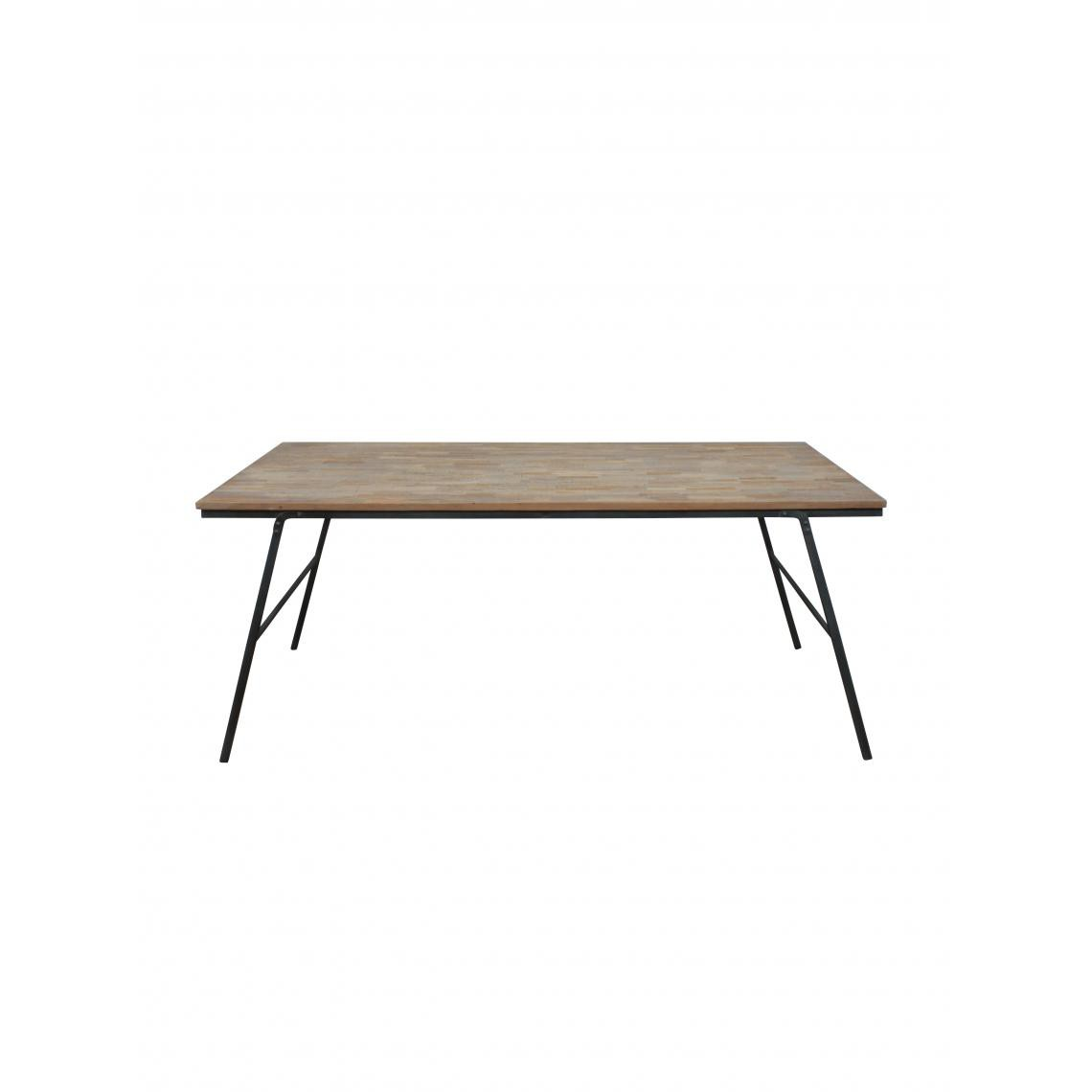 table pliable en teck recycle mercato