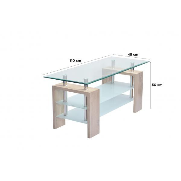 meuble en tv en verre transparent bois pulton