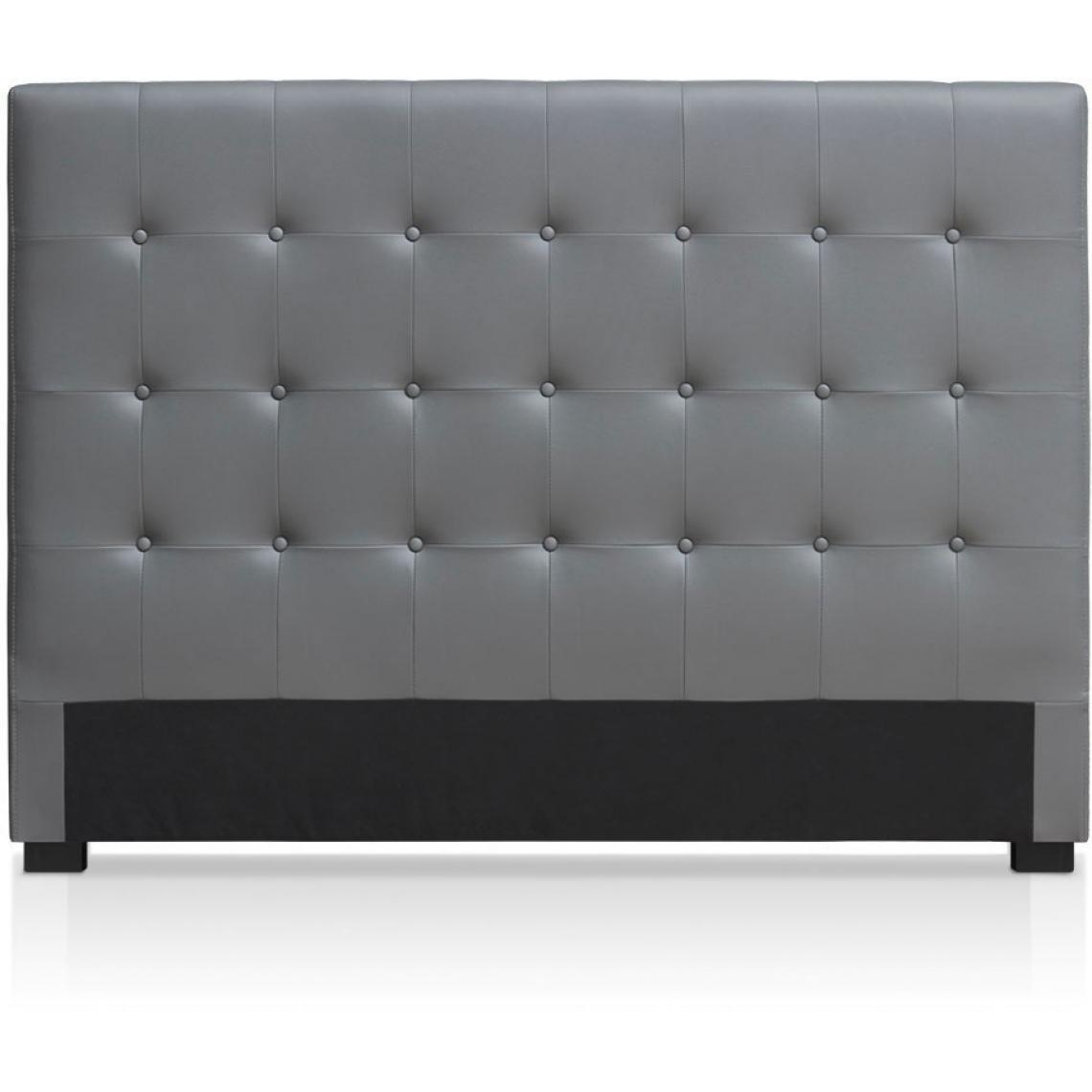 de lit capitonnee 160 cm cocoon gris