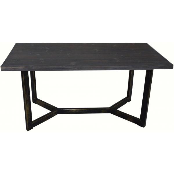 table basse rectangulaire en metal et bois palino