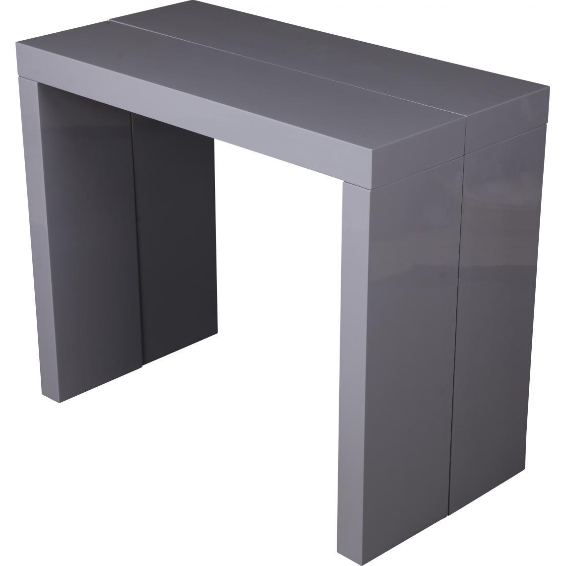 console extensible 250cm gris laque