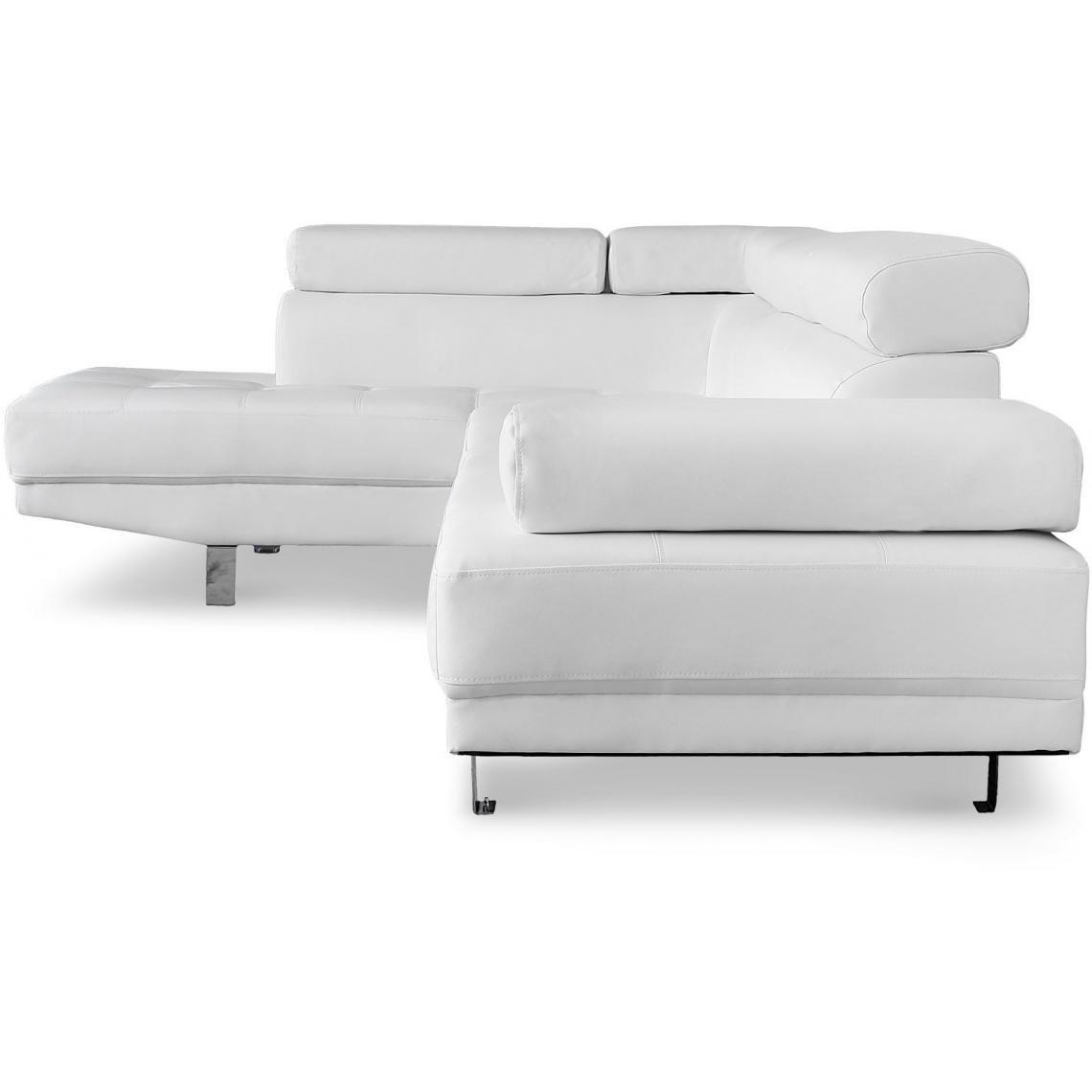 canape d angle blanc avec tetiere
