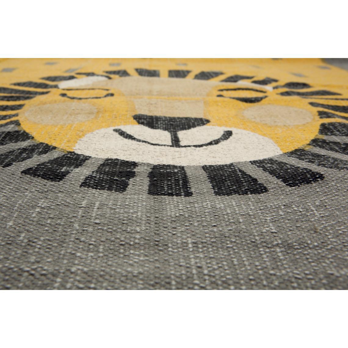 tapis enfant rectangulaire lion 110x170
