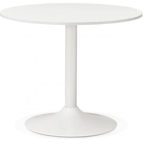 table ronde bois blanche d90 zirtec 3s x home