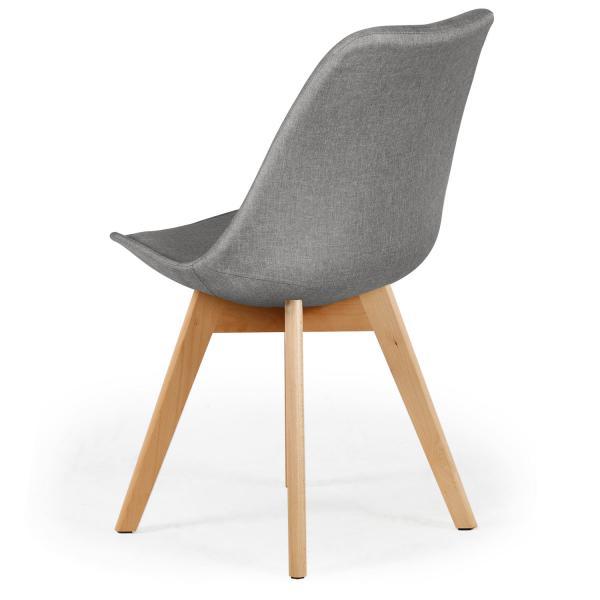 lot de 4 chaises scandinaves en tissu gris esben