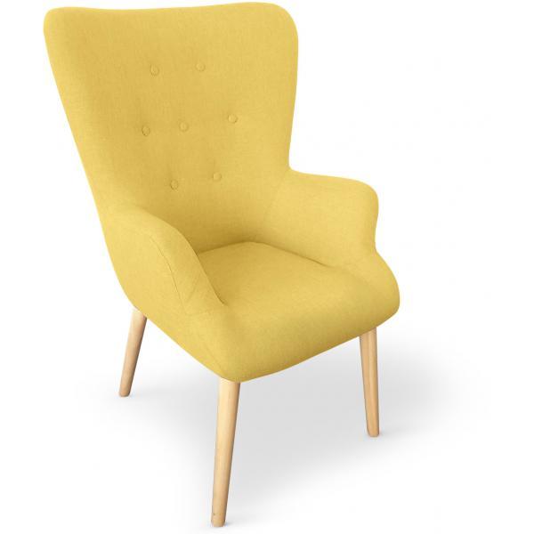 fauteuil scandinave jaune rivka