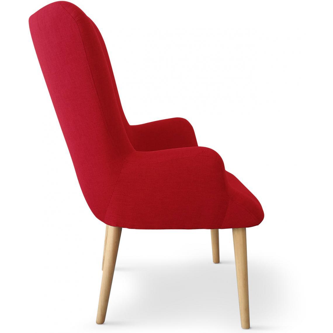 fauteuil scandinave rouge rivka 3 suisses