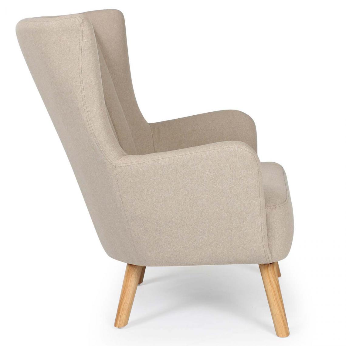 fauteuil scandinave beige arpi 3 suisses