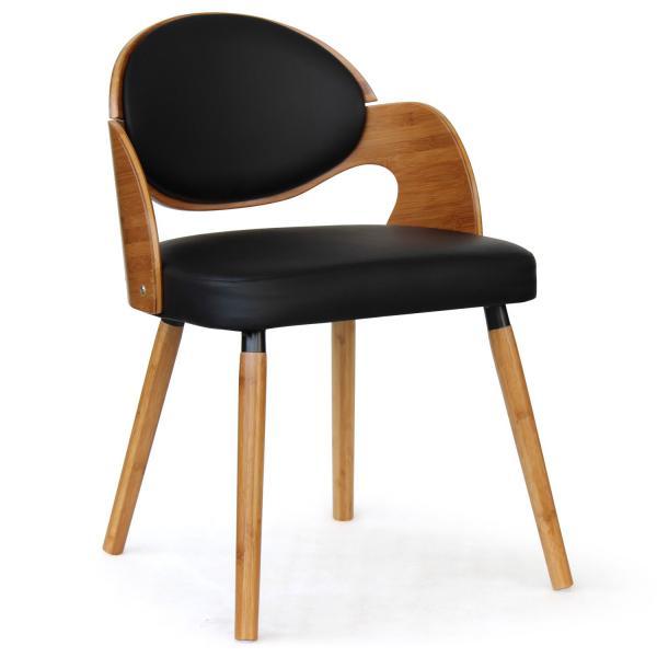 lot de 2 chaises scandinaves chene clair noir alsea