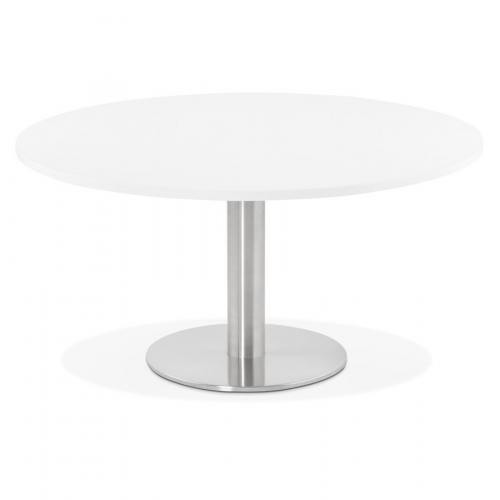 table basse ronde blanche bruel