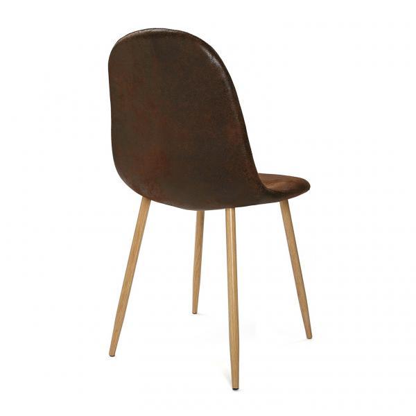 chaise scandinave marron hamar
