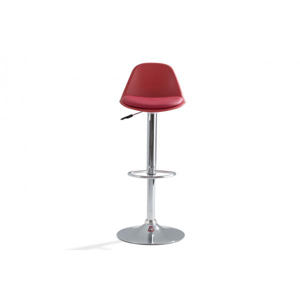 tabouret de bar rouge design lucio