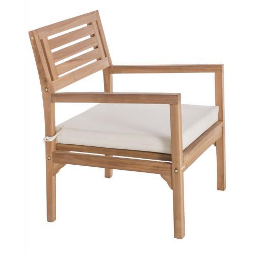 fauteuil detente exterieur teck marron blanc paola 3s x home