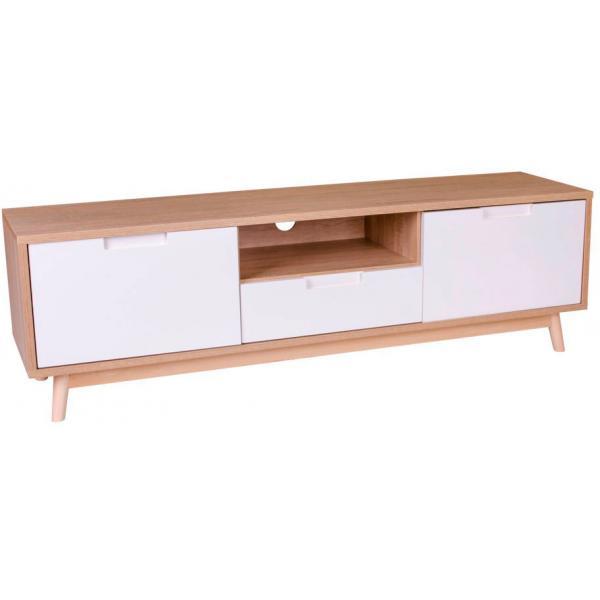 meuble tv scandinave blanc doro