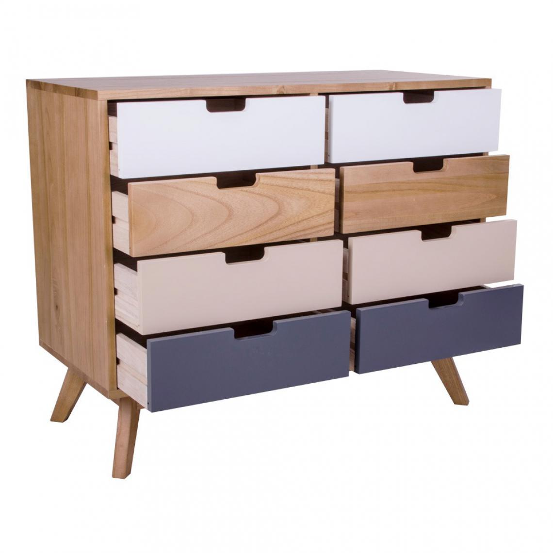 commode scandinave 8 tiroirs