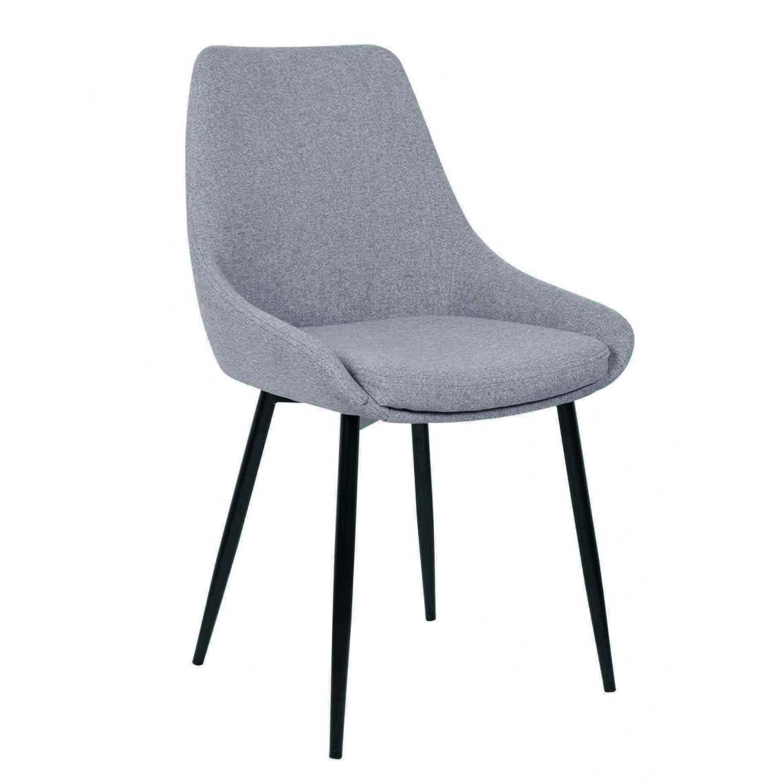 chaise tissu gris clair indo