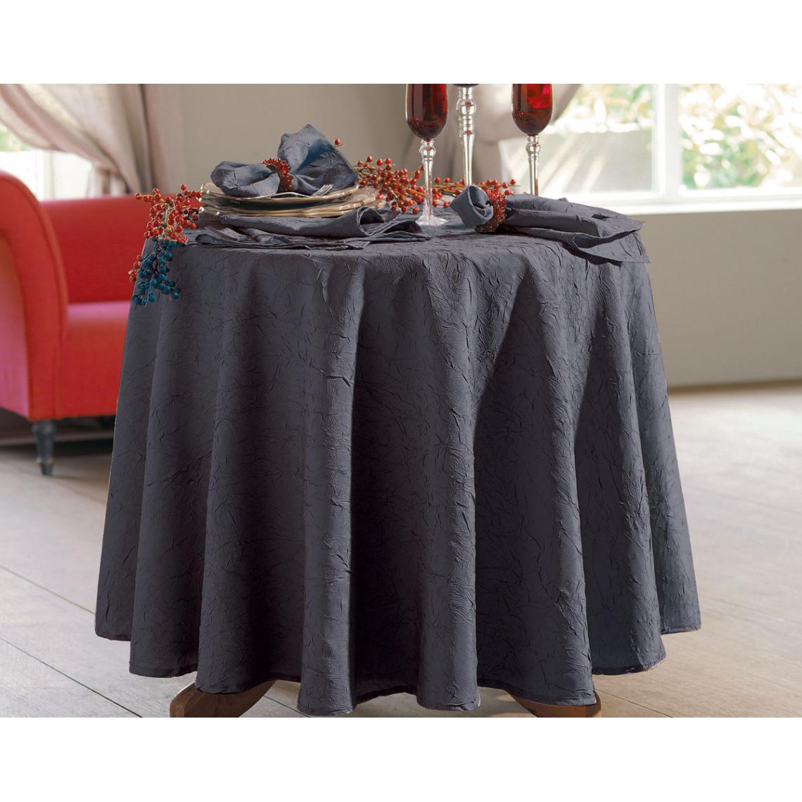 Nappe Ovale Polyester Froisse Anthracite 3 Suisses