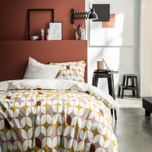 parure de lit 220x240 2 personnes coton imprime graphique terra rosa joplin today