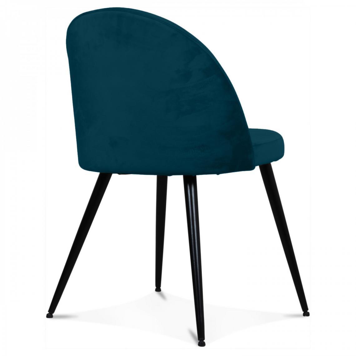 chaise tissu bleu canard bradley 3