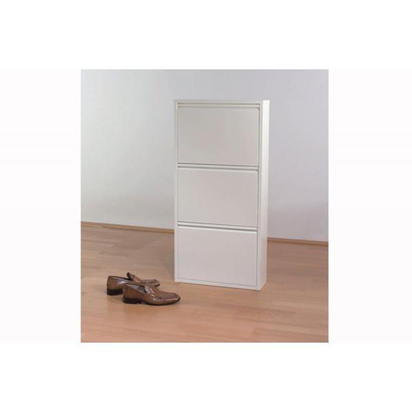 meuble a chaussures blanc 3 abattants 50x14x103