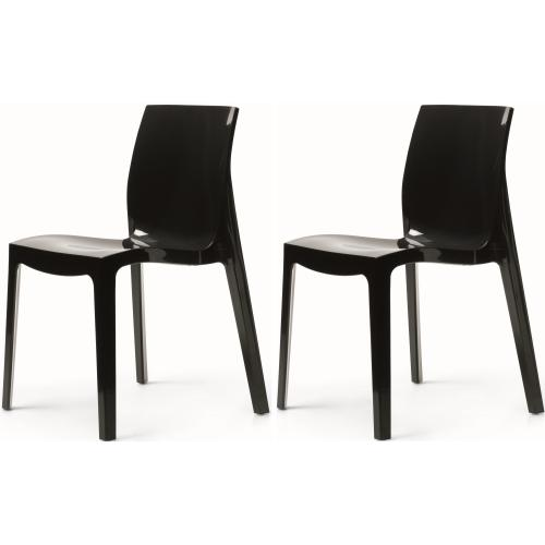 lot de 2 chaises anthracites laquees lady 3s x home