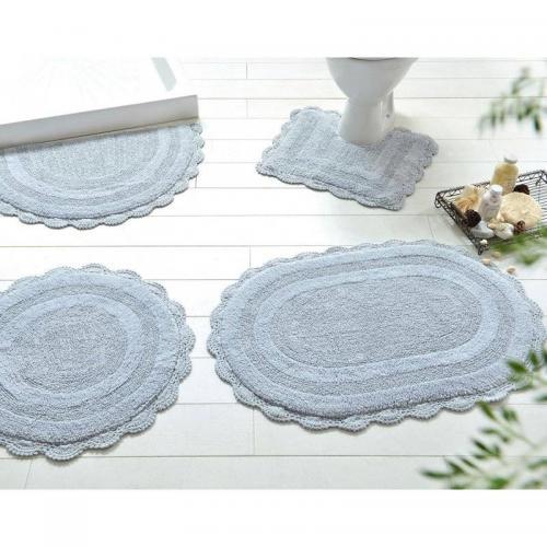 becquet tapis de bain facon crochet 1900gm2 gris