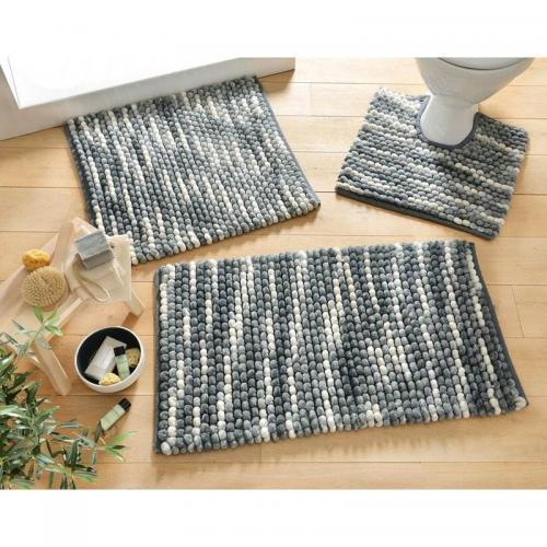 becquet tapis de bain microfibre 1800g m2 gris