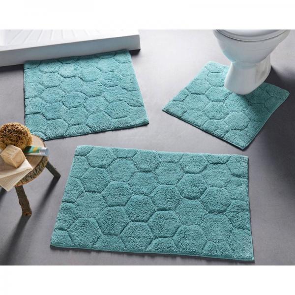 tapis de bain 1800 g m bleu