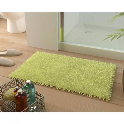 becquet tapis de bain coton longues meches 1500gm2 vert