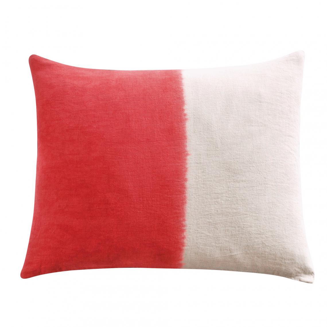 taie d oreiller carree ou rectangulaire lin tie and dye bensimon roux bensimon linge
