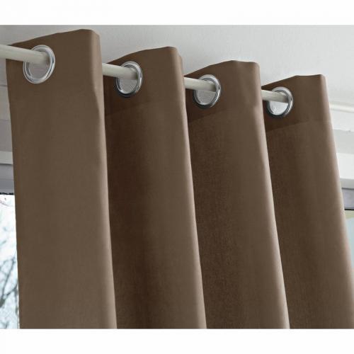 3s x tertio nos unis rideaux oeillets bachette coton tertio taupe