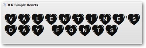 Font speciali per gli auguri di San Valentino