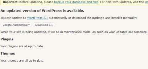 Rilascio WordPress 3.1 – Ecco le novità