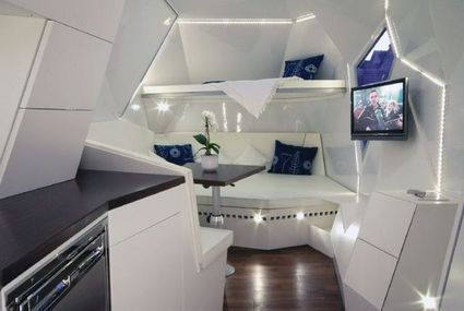 Caravan di prestigio e dall'elevato design - particolare degli interni
