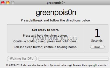 Jailbreak iOS 4.2.1 per iPhone 4,3GS, iPod Touch 2G,3G,4G e iPad con greenpois0n [GUIDA WIN E MAC]