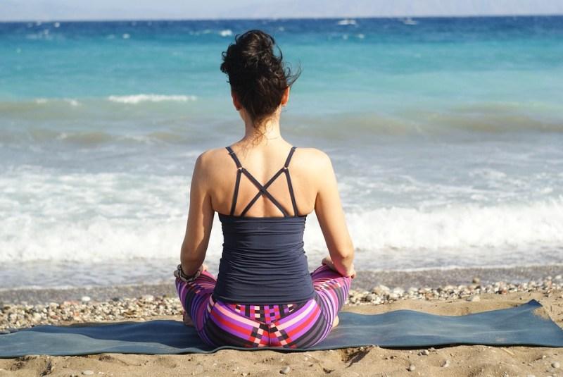 woman on a health retreat